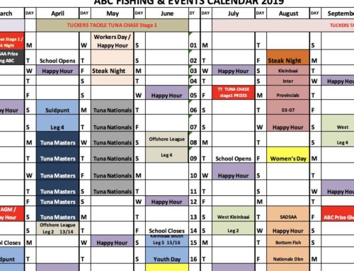 2019 Fishing Events Calendar