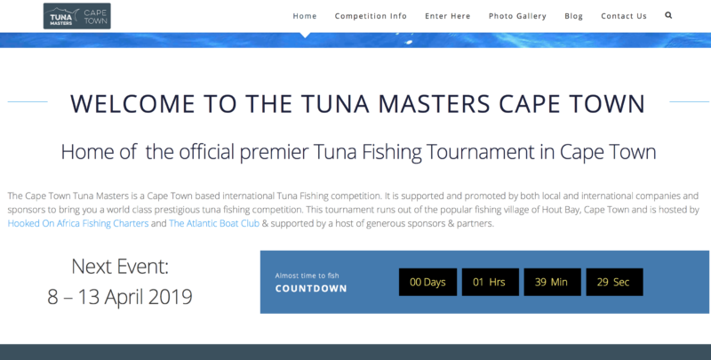 tuna masters cape town 2019 timer count down