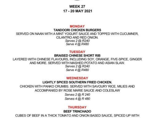 The Jolly Cook Menu 17-20 May