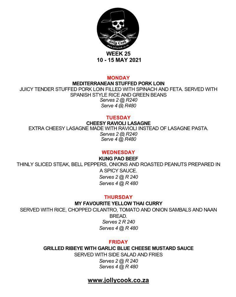 the jolly cook menu 10-15 may